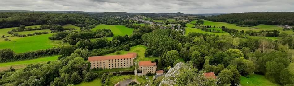 vue en haut de la Roche à Lomme, Dourbes