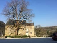 la cour intérieure à la ferme chateau de Dourbes