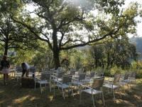 Aménagement du jardin pour un mariage