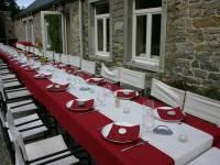 Ferme château de Dourbes : banquet de mariage sur la terrasse