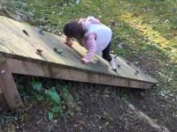 Escalade dans le jardin du gite