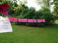 Bruiloft decoratie in de tuin  Ardennes Dourbes